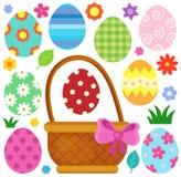 Imagem temático 1 dos ovos da páscoa Imagens de Stock Royalty Free