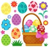 Imagem temático 2 dos ovos da páscoa Foto de Stock Royalty Free