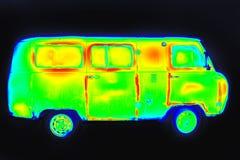Imagem Thermographic do veículo fotografia de stock royalty free