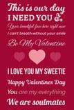 Imagem tipográfica do Valentim Imagens de Stock