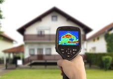 Imagem térmica da casa Fotografia de Stock Royalty Free