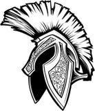 Imagem Trojan espartano da mascote do capacete Imagem de Stock Royalty Free