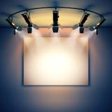 Imagem vazia iluminada por projetores ilustração do vetor