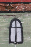 A imagem velha da janela na parede Fotos de Stock Royalty Free