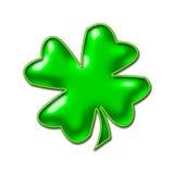 Imagem verde de néon do Shamrock Ilustração Stock