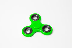 Imagem verde do brinquedo do girador do dedo da inquietação fotos de stock