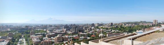 Imagem Yerevan do panorama, Armênia Fotos de Stock