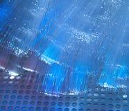 Imagen óptica de la fibra con los detalles y la luz Foto de archivo libre de regalías