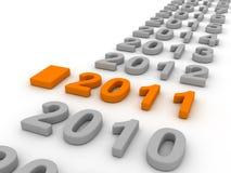 imagen 3D de 2011 (naranja) Imagen de archivo libre de regalías