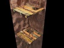 imagen 3d de la mina subterránea Imagen de archivo