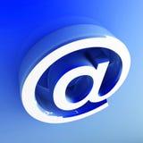 imagen 3d del símbolo del email Imagen de archivo libre de regalías