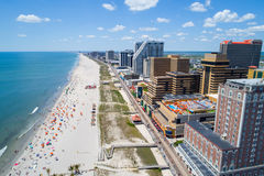 Imagen aérea Atlantic City NJ fotos de archivo libres de regalías