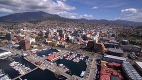 Imagen aérea de Hobart fotos de archivo