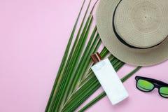 Imagen aérea de la opinión de sobremesa del accesorio para el fondo del día de fiesta del viaje del verano Fotos de archivo libres de regalías