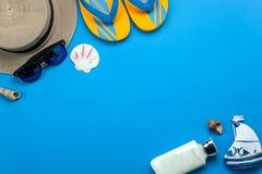Imagen aérea de la opinión de sobremesa de la moda para el viaje en vacaciones de verano Fotografía de archivo libre de regalías