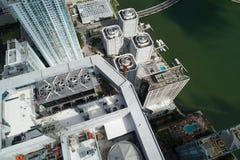 Imagen aérea de la torre Brickell del panorama imagen de archivo libre de regalías