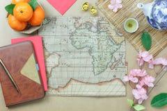 Imagen aérea de la visión superior del plan a viajar en Año Nuevo chino y concepto lunar de los días de fiesta del Año Nuevo Fotos de archivo libres de regalías