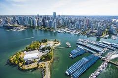Imagen aérea de Vancouver, A.C., Canadá Fotos de archivo