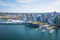 Imagen aérea de Vancouver, A.C., Canadá Imágenes de archivo libres de regalías
