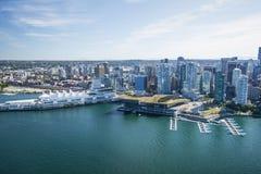 Imagen aérea de Vancouver, A.C., Canadá Imagen de archivo