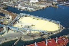 Imagen aérea de Vancouver, A.C., Canadá Foto de archivo libre de regalías
