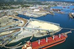 Imagen aérea de Vancouver, A.C., Canadá Foto de archivo