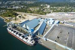 Imagen aérea de Vancouver, A.C., Canadá Fotografía de archivo