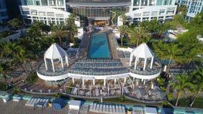 Imagen aérea del diplomático Beach Resort de Westin Fotos de archivo