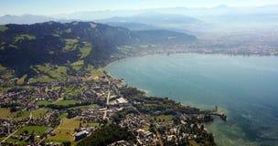 Imagen aérea del lago de Constanza foto de archivo