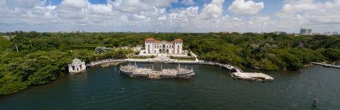 Imagen aérea del museo y de los jardines Miami la Florida de Vizcaya Imagenes de archivo