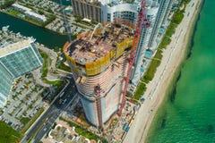 Imagen aérea del ne de Ritz Carlton Residences Sunny Isles Beach imagenes de archivo