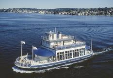 Imagen aérea del transbordador Washington State fotografía de archivo