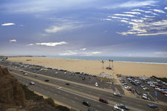 Imagen aérea Santa Monica Beach Imagen de archivo