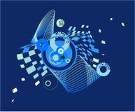 Imagen abstracta azul marino con los círculos Foto de archivo libre de regalías