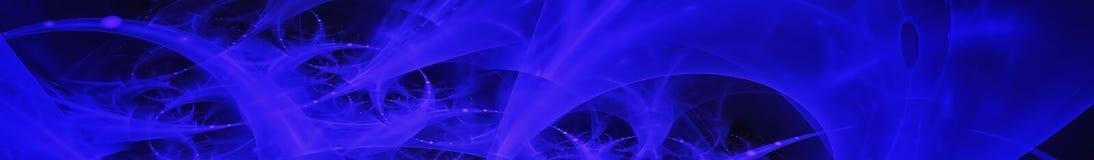 Imagen abstracta azul Opini?n panor?mica de Gorizontal para el skinali del panel de la cocina 3d rinden fotografía de archivo