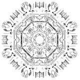 Imagen abstracta circular Foto de archivo libre de regalías