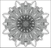 Imagen abstracta circular Ejemplo negro blanco Imágenes de archivo libres de regalías