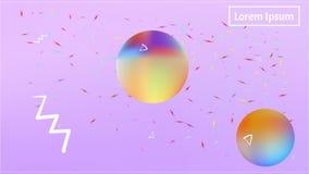 Imagen abstracta colorida del fondo del espacio moderna ilustración del vector