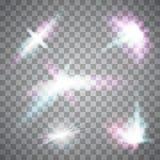 Imagen abstracta de la llamarada de la iluminación conjunto Fotografía de archivo libre de regalías