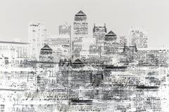 Imagen abstracta de la vida de ciudad moderna Imagen de archivo