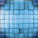 Imagen abstracta de los cubos 3d. Fondo de Colorfull en el azul entonado Imagenes de archivo