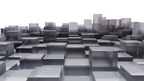Imagen abstracta de los cubos de cristal Imagen de archivo libre de regalías
