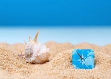 Imagen abstracta de un día de fiesta en el mar en el verano Imágenes de archivo libres de regalías