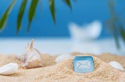 Imagen abstracta de un día de fiesta en el mar en el verano Imagen de archivo libre de regalías