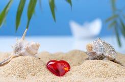Imagen abstracta de un día de fiesta en el mar en el verano Fotografía de archivo