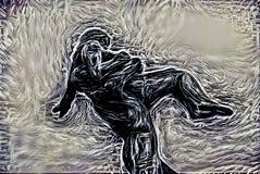 Imagen abstracta de una persona Imagen de archivo libre de regalías