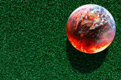 Imagen abstracta del concepto del calentamiento del planeta Imágenes de archivo libres de regalías