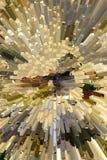 Imagen abstracta del fondo de los cubos en el azul entonado Foto de archivo libre de regalías