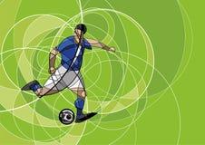 Imagen abstracta del jugador de fútbol con la bola Fotos de archivo