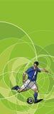 Imagen abstracta del jugador de fútbol con la bola Fotos de archivo libres de regalías